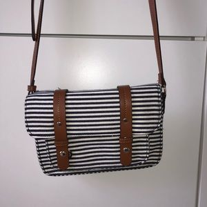 Striped Street Level crossbody purse